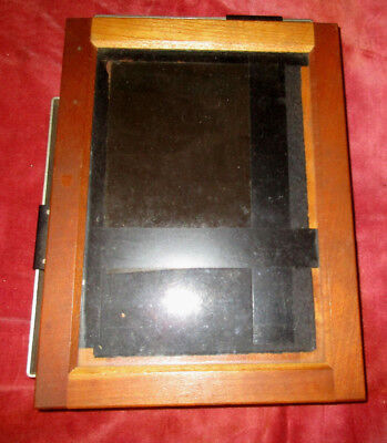 VINTAGE Agfa Ansco Wood and Glass Adjustable Masking Print Frame 4 BY 5 NEGATIVE