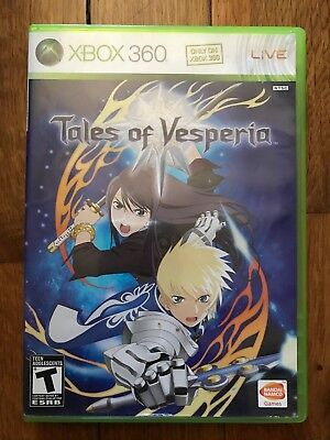 Tales of Vesperia (Microsoft Xbox 360, 2008) W/Manual