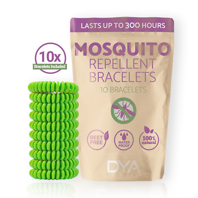 DYA 10 Pack Mosquito Repellent Bracelets - Canadian Seller