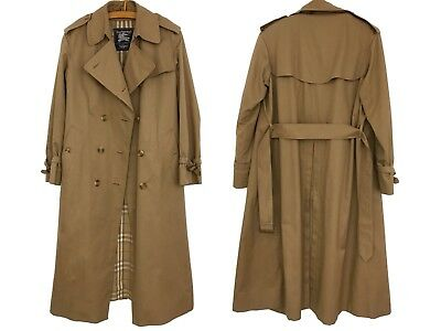 ORIGINAL VINTAGE BURBERRY Trenchcoat Mantel Trench Coat Karo