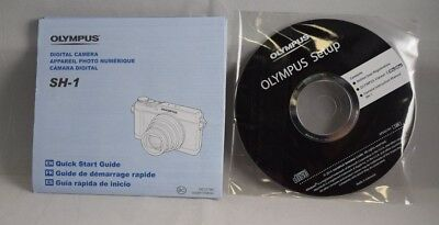 Olympus SH-1 SH1 Camera Quick Start Guide and Set-up CD (With Instruction Manual