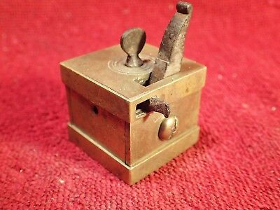 signed G.BAUER  ,1800-s ANTIQUE 16 - blade  BLOOD LETTING TOOL SCARIFICATOR