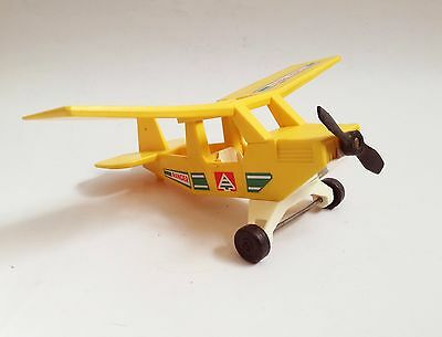 Fisher Price Yellow ranger airplane The Adventure People #307 vintage toy 1976