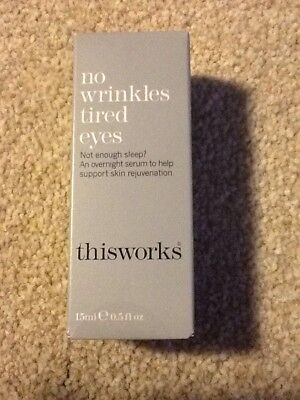 This Works No Wrinkles Tired Eyes Serum. 15ml Full Size. Brand New and Sealed.