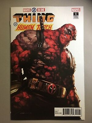 Marvel Two-In-One #6 Comic/ Parel Thing Deadpool Variant Cover /Human Torch
