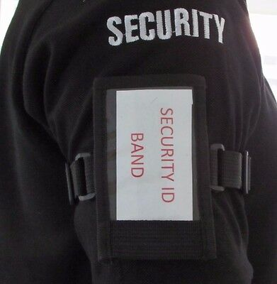 Durable, Adjustable Security Tactical ID License Holder Armband, Conference