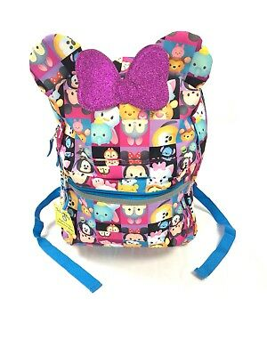 Disney Tsum Tsum All About The Ears 18 inch Backpack School Bag Tote NWT