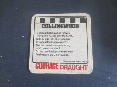 1 only Courage Brewery / Collingwood Football Club,Victoria 1974 Issuecoaster