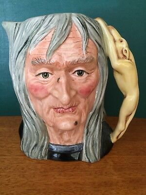 Royal Doulton Large Character Jug ' The Pendle Witch ' D6826