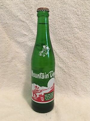 FULL 10oz MOUNTAIN DEW HILLBILLY ACL SODA BOTTLE