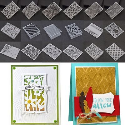 Plastic Embossing Folder Stencils Template Scrapbooking Paper Cards DIY Crafts