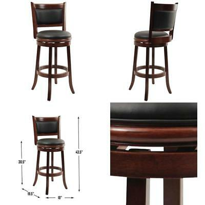 Incredible Boraam 49829 Augusta Swivel Stool 29 Inch Cherry Bar Stools Gmtry Best Dining Table And Chair Ideas Images Gmtryco