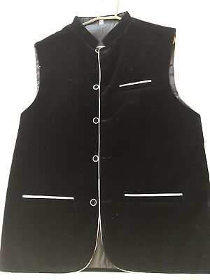 Mens Formal Asian Waistcoat Jacket Sherwani Eid/ Wedding Nikkah Walima Black