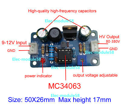 80-380V DC High Voltage NIXIE&Magic Eye Tube HV Power Supply Module,NIXIE ERA