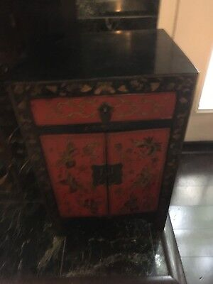 Oriental End Table Cabinet IB2004  Local Pickup