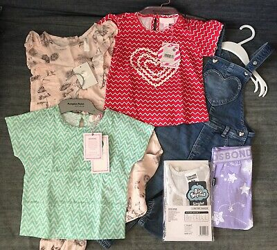 Baby Girl 12-18M Bundle: PUMPKIN PATCH Tops, BONDS leggings, Big Softies body