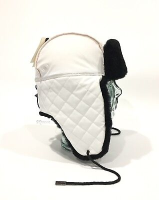 32e12ffdf90ff Ugg Quilted Nylon Trapper With Sheepskin Fur - White -Women S One Size -Nwt