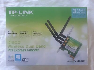 TP-Link TL-WDN4800 N900 Dual Band PCI Express Wireless WiFi Network Card Adapter