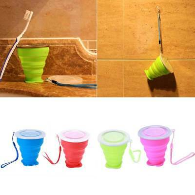 Silicone Portable Telescopic Drinking Collapsible Folding Cup Traveling Camping~