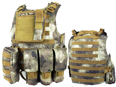 Tactical Assault Molle Combat Vest Magazine Pouch Airsoft Paintball Military AT