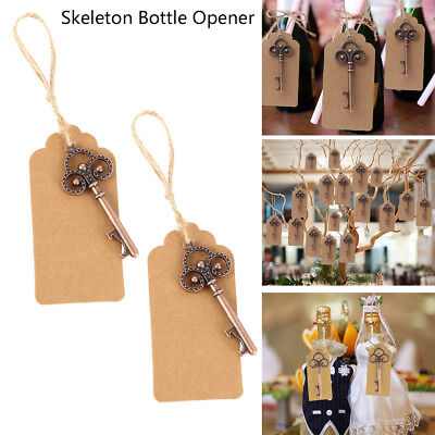 50x Antique Skeleton Key Bottle Opener Wedding Favor Party Bridal Shower Gift