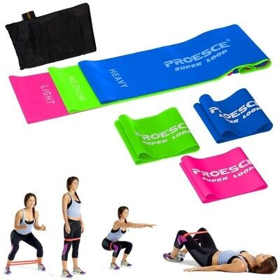 f440f206e5 Set of 3 Latex Free Resistance Exercise Bands Loop Home Gym Yoga Fitness w   Bag