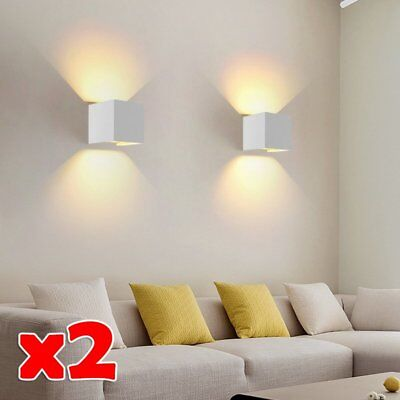 2x LED Outdoor Up/Down Lamp Wall Sconce Lights Waterproof Adjustable Garden Yard
