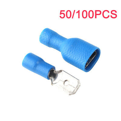6.3mm Fully Insulated Female Spade Terminals Crimp Connector Male Tab Terminal