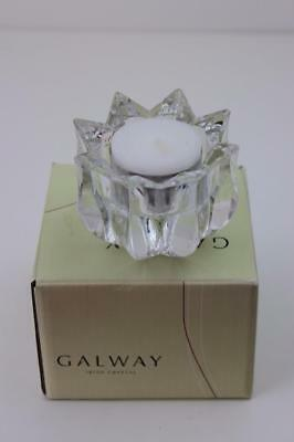 Galway Crystal Candle Holder Boxed