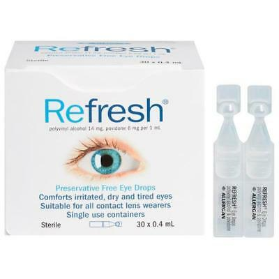 NEW Refresh Preservative Free Eye Drops 0. 4ml 30 Vials