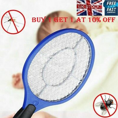 Electric Fly Insect Racket Zapper Killer Swatter Bug Mosquito Wasp Electronic SI
