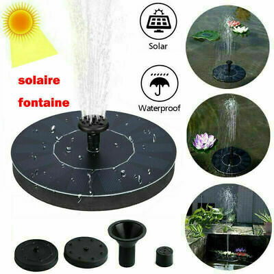 Outdoor Solar Powered Floating Bird Bath Water Fountain Pump Garden Pond Pool