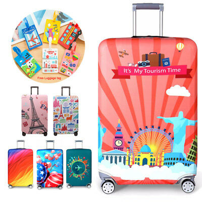 Elastic Luggage Protective Cover Suitable 18-32 Inch Trolley Suitcase Dust Cover