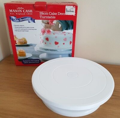 Mason Cash 28cm Cake Decorating  icing Turntable in Box Strong and Lightweight