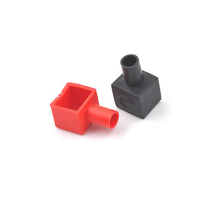 2Pcs Motorcycle Terminal Rubber Covers Battery Sleeve Insulation Cap In UK