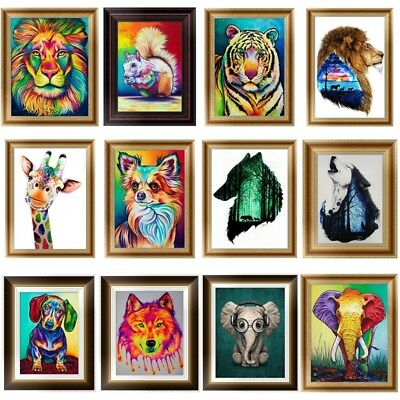 DIY 5D Diamond Embroidery Painting Cross Stitch Kit Animal Flower Home Art Decor