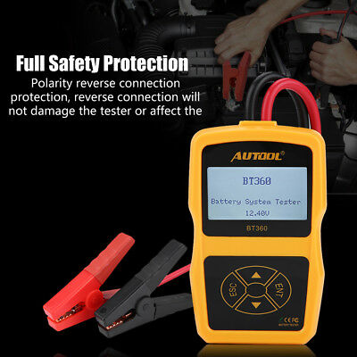 12V Auto Battery Testers Car Battery System Tester Diagnostic Tool 2000CCA 220AH