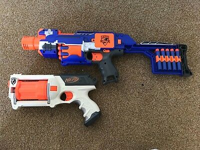 Stockade and Sidearm Nerf Gun Bundle with additional bullets