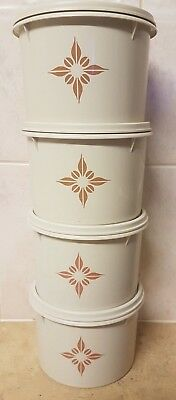 Vintage Tupperware Canisters  x 4
