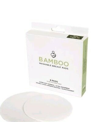 Bamboo Washable Breast Pads | Pack of 8 Reusable Bamboo Nursing Pads(B2)