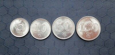Korea 2005 Set of 4 Coins