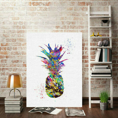 Canvas Print Abstract Pineapple Oil Painting Unframed Picture Home Wall Decor UK