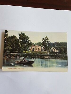 Vintage Postcard. Abbotsford From The River. Used