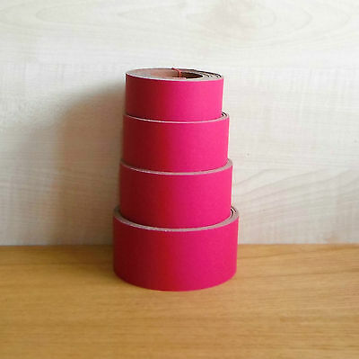 Leather Belt & Strap Blanks Various Widths 2.4 Mm Thick Pull-Up Magenta