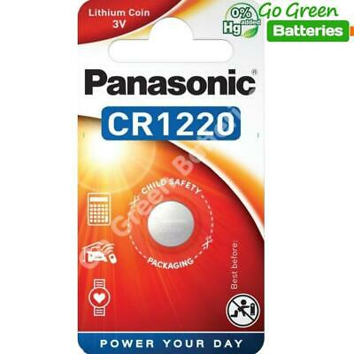 1 x Pansonic CR1220 3V Lithium Coin Cell Battery 1220 DL1220 BR1220 2028 Exp