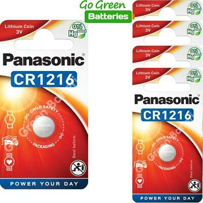 5 x Panasonic CR1216 3V Lithium Coin Cell Battery 1216 DL1216 BR1216 2028 Exp