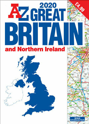 Great Britain A-Z Road Atlas 2020 (A3, Paperback)
