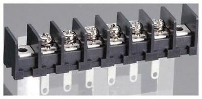 Barrier Strip, 6 Contact, 10.16mm Pitch, 1 Row, 15A, 250 V