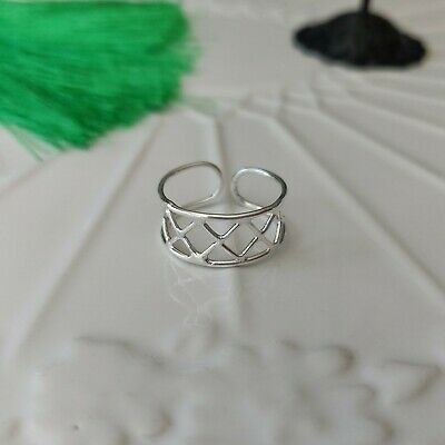 925 Sterling Silver Wire Work Toe Ring in Box