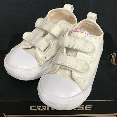 Girl Toddler Converse Chuck Taylor All Star 2V OX White 756041F Shoes size 7 66dcfe676